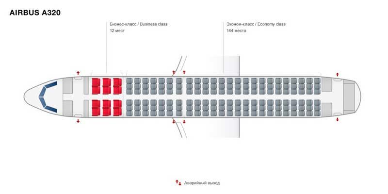 Схема посадочных мест A320