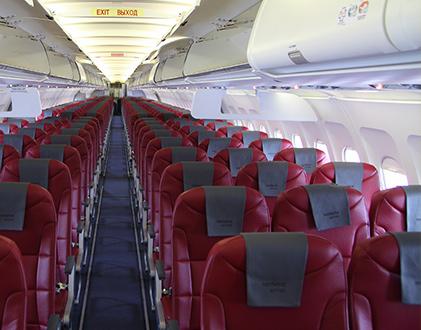 Салон самолета A321