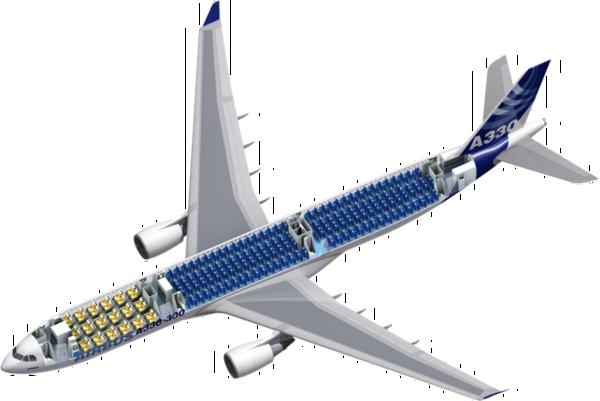 Схема салона A330-300