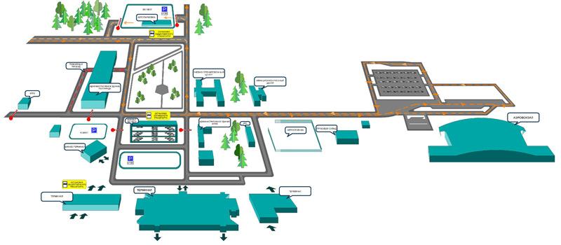 Схема план аэропорта курумыч